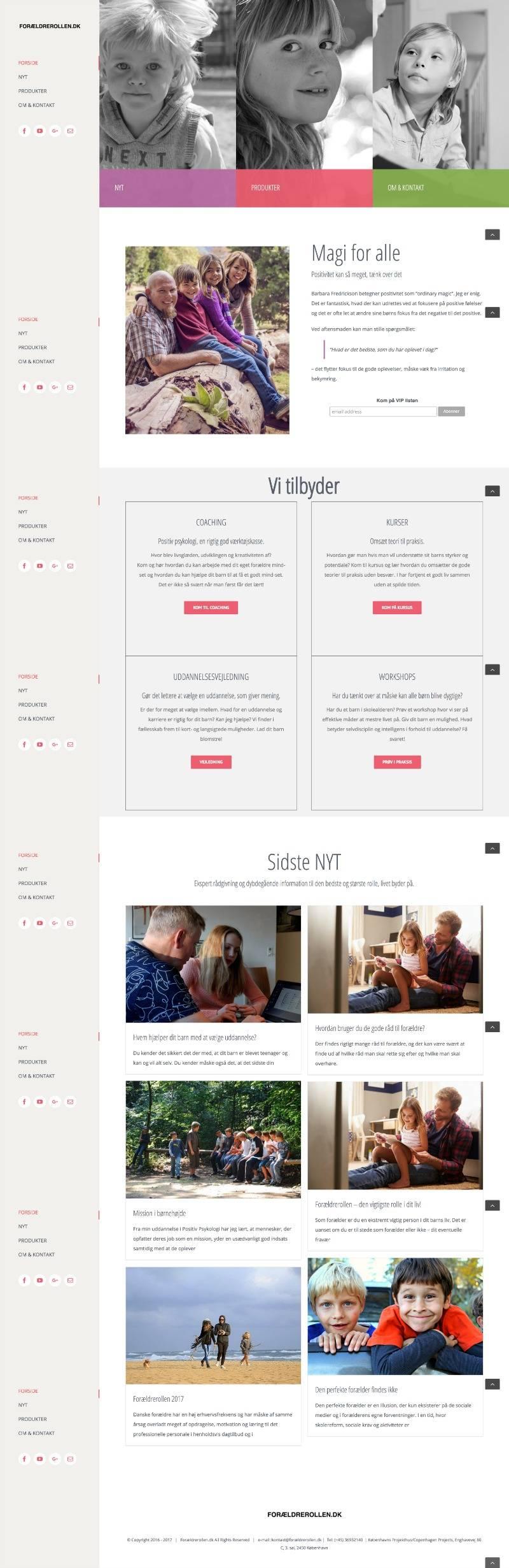 forældrerollen.dk, produced by webmom.eu