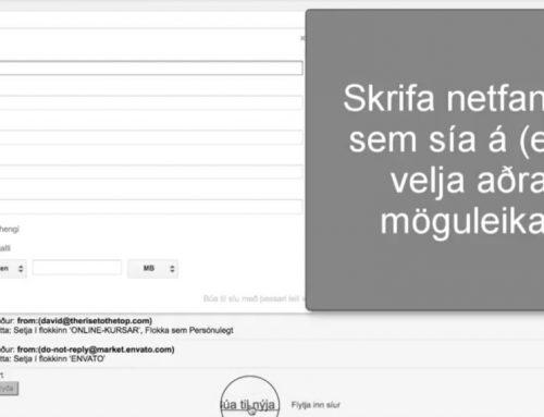 Settu upp sjálfvirka síu í Gmail á 1 mínútu!