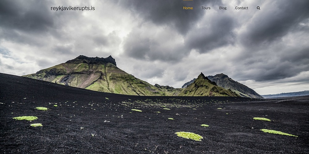 Reykjavikerupts.is, produced by webmom.eu
