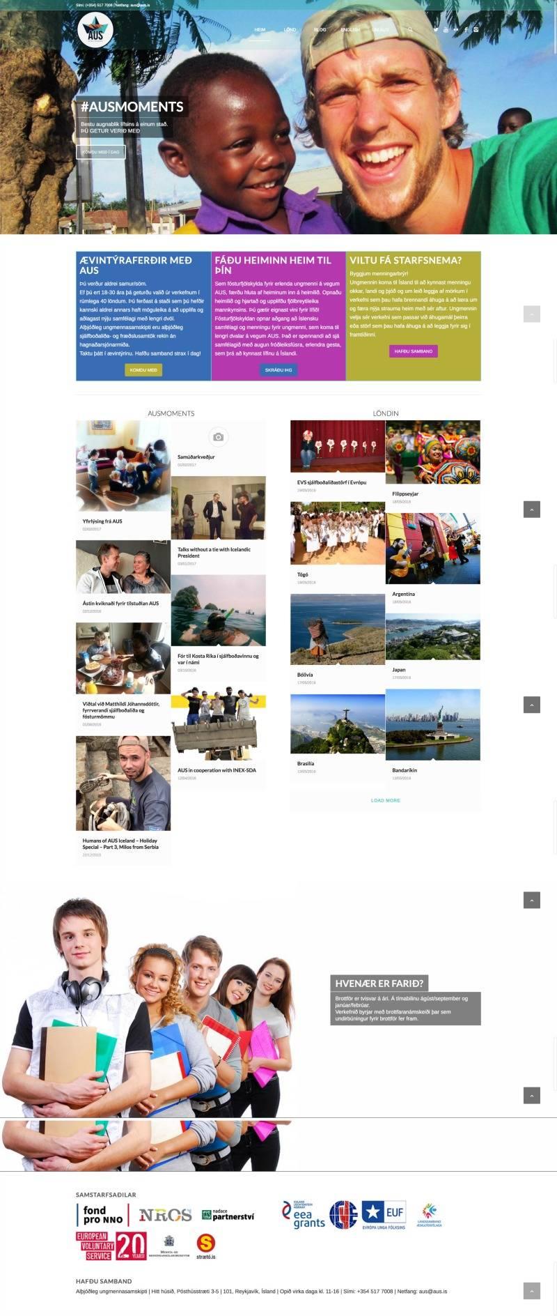 aus.is, produced by webmom.eu