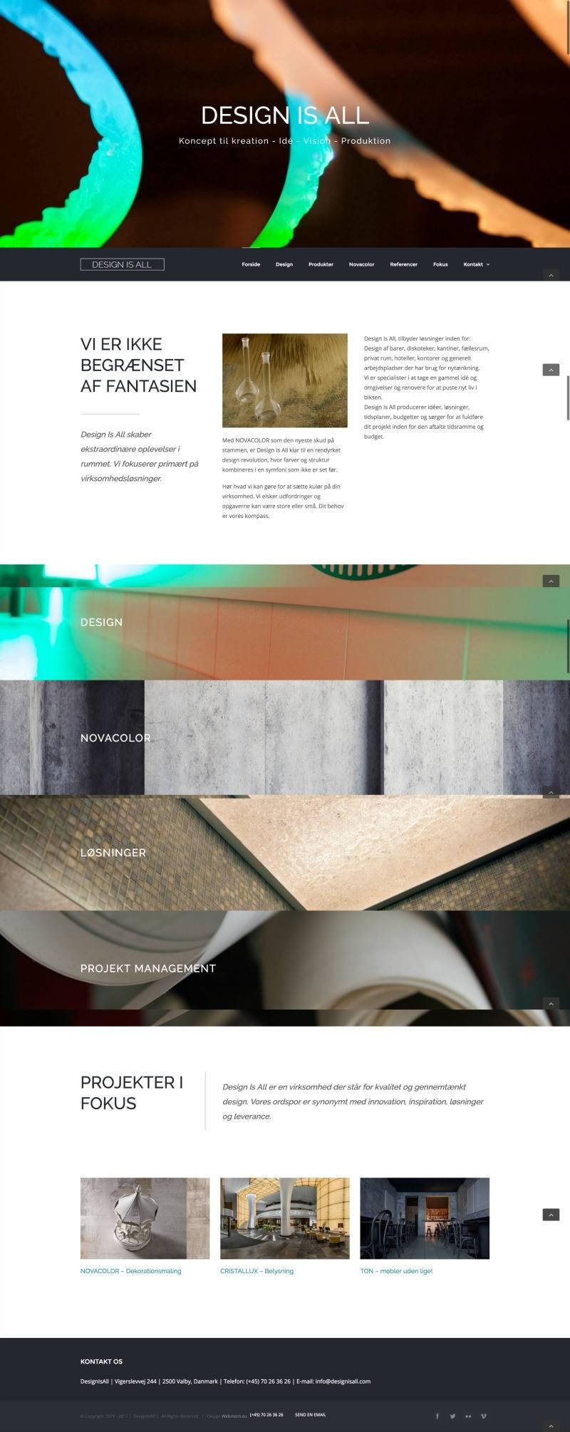 designisall.com, produced by webmom.eu