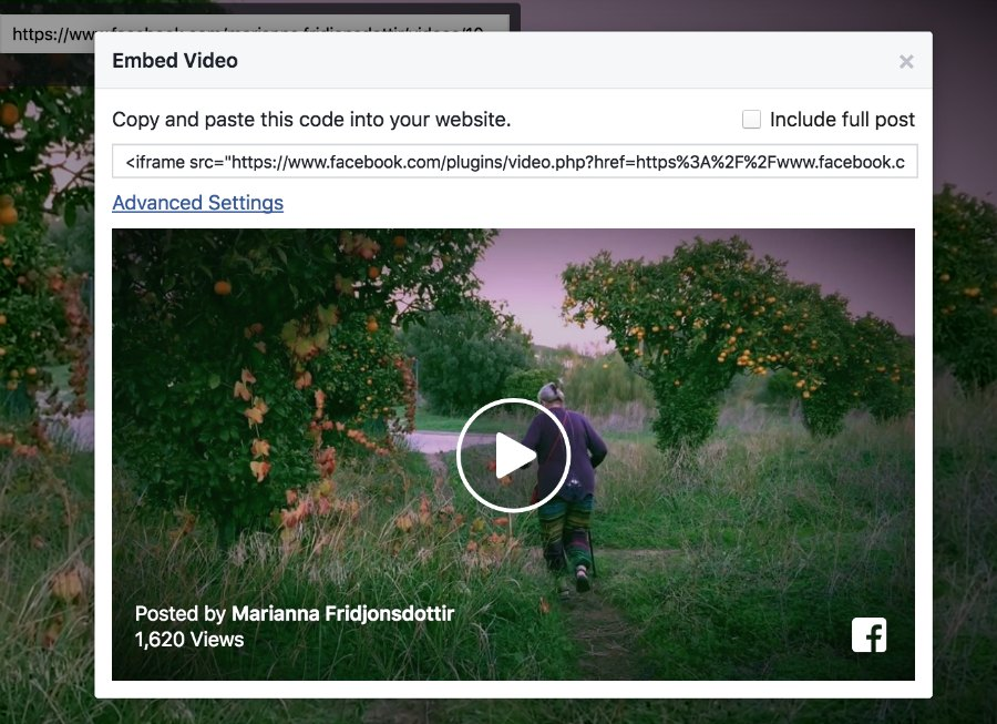 Facebook, embed video