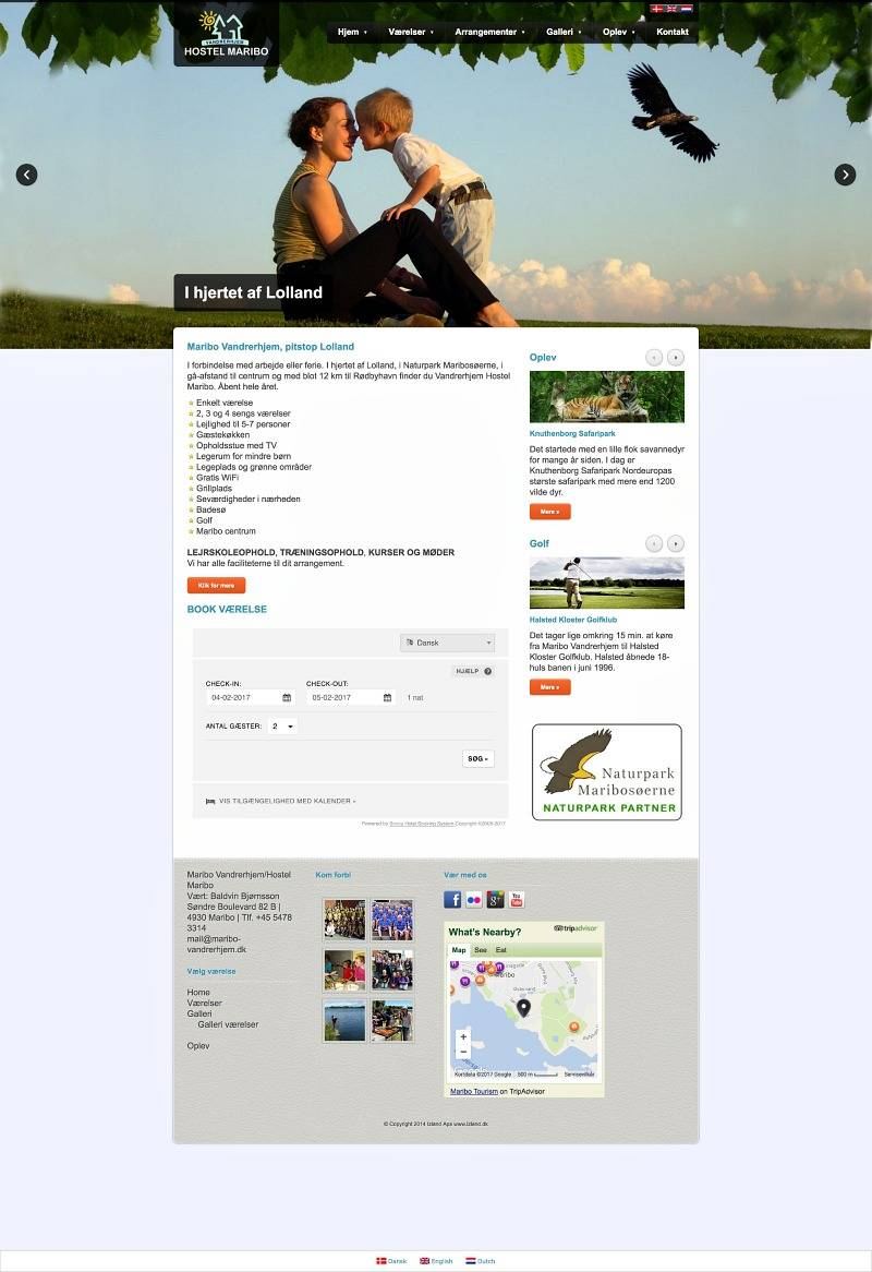 maribo-vandrerhjem.dk, produced by webmom.eu