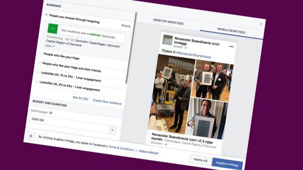 facebook boost, búst, auglýsingar