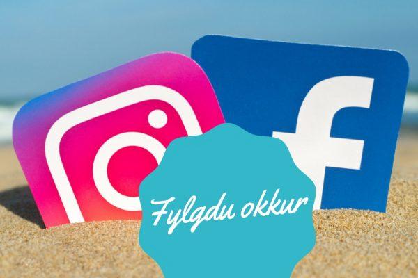 Instagram, Facebook, fylgdu okkur, webmom.eu