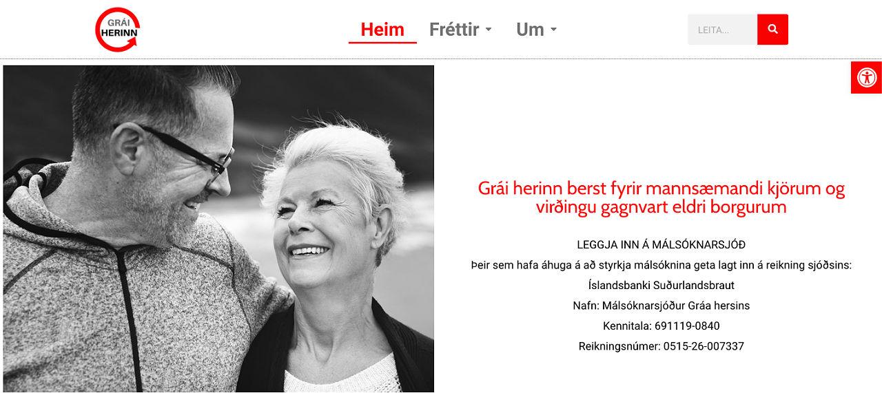 graiherinn.is, vefsíða hönnuð og skrúfuð saman af webmom.eu